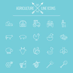 Agriculture icon set.