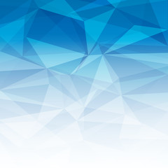 Abstract Blue Light Polygonal Mosaic Background, vector illustration