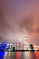 Wall Mural - Shanghai skyline at night