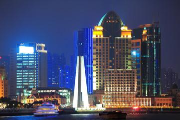 Fototapete - Shanghai at night