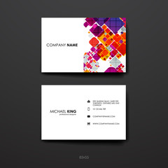 Set of Design Business Card Template in abstract style