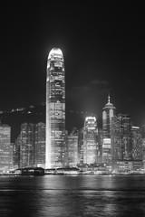 Wall Mural - Hong Kong black and white