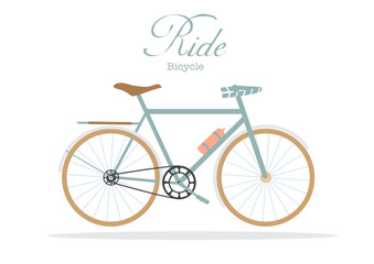 Retro bicycle on white backgrounds