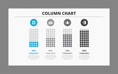 Four Column Chart Template