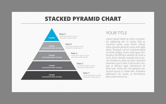 Five Floor Pyramid Chart Template