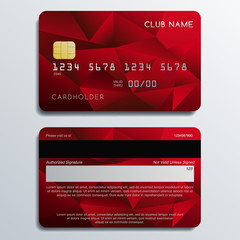 Set of Premium Credit Cards: Vector Illustration