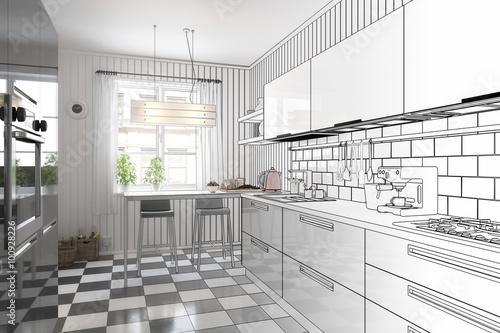 meine neue k che konzeption zdj stockowych i obraz w royalty free w obraz. Black Bedroom Furniture Sets. Home Design Ideas