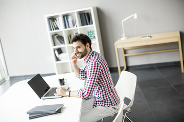 Young man at the office