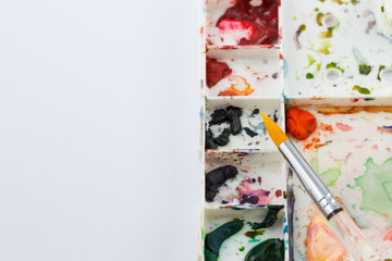 Working space of water color painting