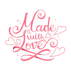 Made with love calligraphy design