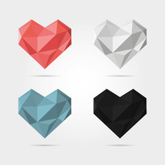 Polygonal Hearts in Vector