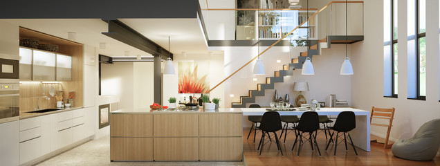 Moderne Galeriewohung Mit Treppe   Modern Loft Apartment With St
