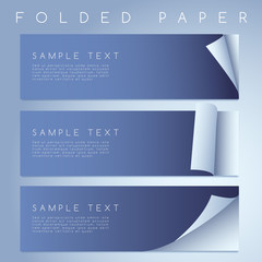 Set of Paper Curled Corners : Vector Illustration