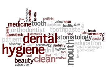 Dental hygiene word cloud