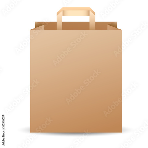 brown paper bag template vector illustration stock image and