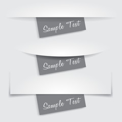Paper Cut and Paper Note : Vector Illustration