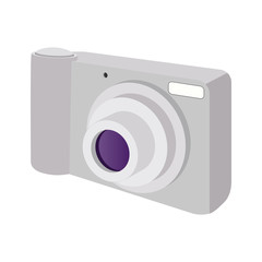 Modern camera cartoon icon