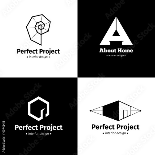 """Interior Design Logo Vector"" Stock image and royalty-free ..."