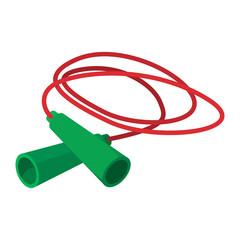 Skipping rope cartoon icon