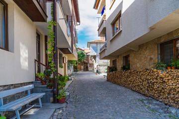 street city Nessebar Bulgaria