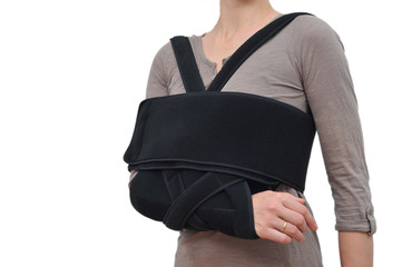 Medical arm ortopedical bandage isolated