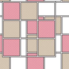 Seamless retro geometrical texture pattern background