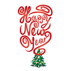 Happy New Year greeting car