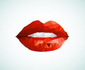 Woman lips easy all editable