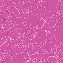 Seamless pattern with skirts.