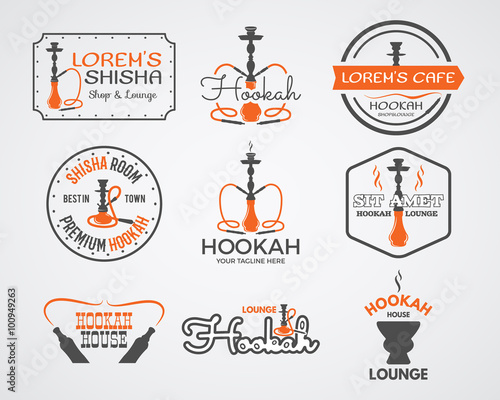 ᐈ Smoke logos stock vectors Royalty Free shisha logo icon