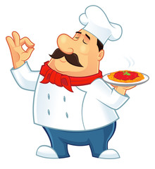 Illustration of a chef character