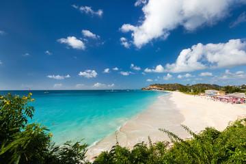 Fototapete - Idyllic beach at Caribbean