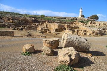 Odeon und alter Leuchtturm in Paphos, Zypern
