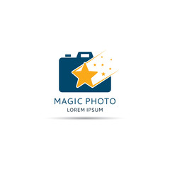 Magic photo. Vector illustration. Template logo of photographer.