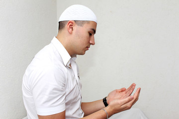 Muslim Man Is Praying
