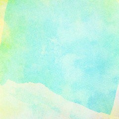 Light abstract blue, green painted watercolor background