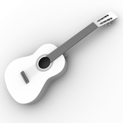 Spanish guitar in black and white