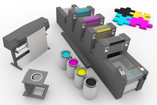 four color print production process