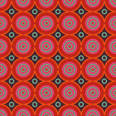 African ethno abstract seamless pattern with decorative folk ele