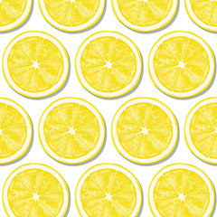 Pattern of lemon yellow slices.