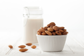 almond milk organic healthy nut vegan vegetarian drink