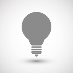 Light bulb. Vector Image.
