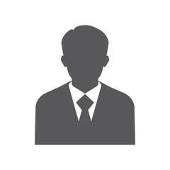 Businessman silhouette avatar profile picture. Man flet icon.