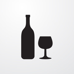 Champagne icon for web and mobile.