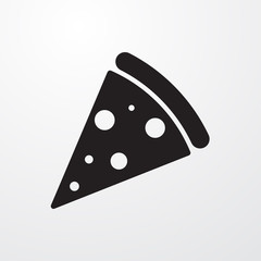 Pizza icon for web and mobile.