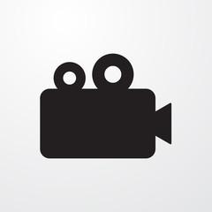 Cinema camera, film sign icon