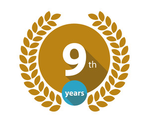 9th years gold circle anniversary logo