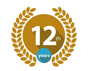 12th years gold circle anniversary logo