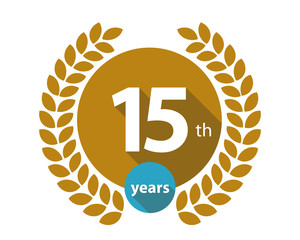 15th years gold circle anniversary logo