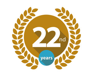 22nd years gold circle anniversary logo